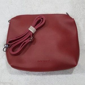 Melie Bianco Red Leather Bag NEW